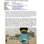 Race, Religion, and Citizenship in Germany 2014 - Syllabus